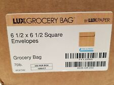 LUX 6 1/2 x 6 1/2 Square Grocery Bag Envelopes-70#-250 Count-H12B6-Peel & Press