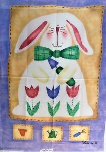 """Bunny Gardner Standard Flag by Toland #1976 28"""" x 40"""", Colorfast and Durable!"""