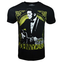 JOHNNY CASH Black Tee Country Rock Music Punk NEW & SUPER SOFT