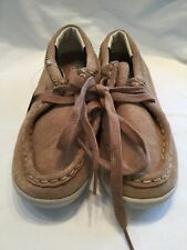 Gallaz Sioux Suede Childrens Kids Beige Brown Skate Shoes UK Size 2.5 BNWOB