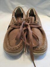 GALLAZ Sioux Daim Enfants BEIGE MARRON Chaussures De Skate Taille UK 2.5 Bnwob
