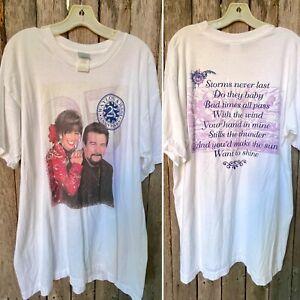 Rare Vtg 90s Waylon Jennings Jessi Colter 25th Anniversary T shirt XL