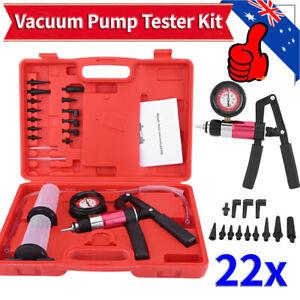 Hand Held Auto Vacuum Pump Pressure Tester Brake Bleeder Test Tool Kit Adapter