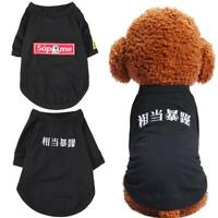 Pet Dog Puppy Coat Jacket Embroidered Letters Costume Clothes Spring Apparel