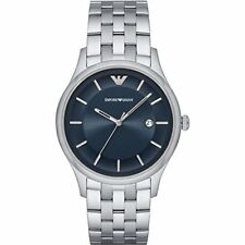 Emporio Armani Men's 43mm Stainless Steel Silver Watch AR11019 MSRP $245