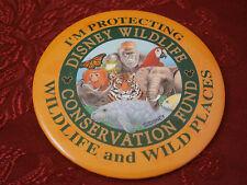 Disney World Wildlife Conservation Protect Animals Manatee Tiger Button Pin