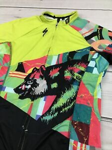 Specialized Women's SL Expert Cycling Jersey CA Bear Neon High Vis Full Zip - XL