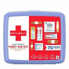 NEW Johnson & Johnson Safe Travels First Aid 70 Piece Emergency Survival Kit