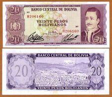 Bolivia, 20 Pesos Bolivanos, 1962, P-161, XF