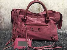 Authentic Balenciaga F/W 2010 The City Pivoine Pink Leather Classic Hardware