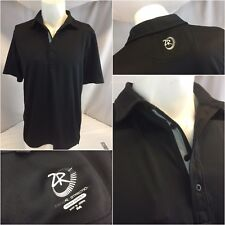 Zero Restriction Golf Polo Shirt M Black Poly Tour Series EUC YGI K8-490