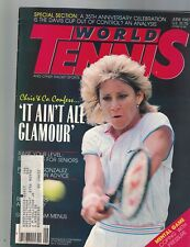 World Tennis Magazine June 1987 Chris Evert Lloyd Arthur Ashe Mikael Pernfors