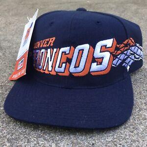 New! 1997 Nike Sports Specialties Snapback Hat Denver Broncos Vintage Navy Blue