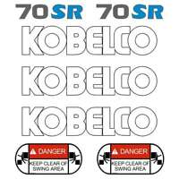 Kobelco SK70SR-1 Decals Stickers New Repro Decal Kit