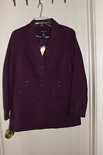 DIALOGUE QVC NWT  Purple Lined Textured Jacket Blazer Coat Small