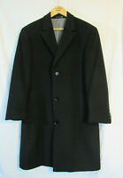 Calvin Klein Men's Plaza Solid Single Breasted Wool Blend Overcoat Size 38R