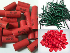 Pyro Tube Supplies Stamped M80 9/16 x 1-1/2 with plastic plugs 25/50