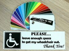 Allow Enough Room Disabled Badge Sticker Vinyl Decal Adhesive Window Bumper BLAC