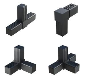 STECKVERBINDER 20x20 25x25 30x30 VIERKANTROHRE PROFILE 20mm 25mm 30mm KUNSTSTOFF