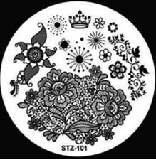 Nail Art Stamping Plates Image Plate Decoration Patterns Flowers (STZ-101)