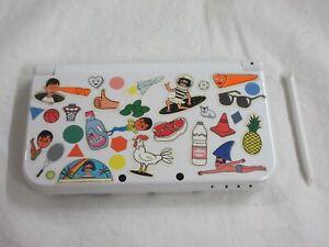 E398 Nintendo new 3DS LL XL console Pearl White Japan w/stylus pen