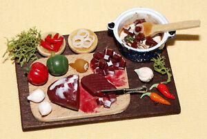 Gulasch kochen.... / Puppenküche  *Miniatur 1:12 by BP*