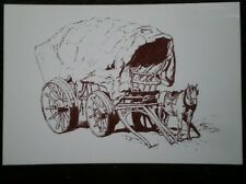 POSTCARD SOCIAL HISTORY RURAL INDUSTRY IN 19TH CENTURY - BROAD WHEELED WAGON