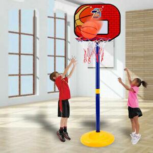 Adjustable Basketball Set Back Board Stand Net Kids Toy Indoor Outdoor Game