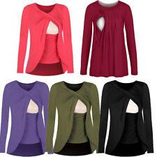 Breastfeeding Top Shirt Tee Tunic Tank Maternity Cotton Comfy Cute S/M/L/XL/2XL