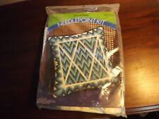 Vintage Pauline Dunham Needlepoint Kit - Mitered Diamond Bargello Pillow MIP