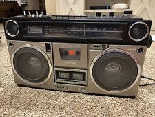 Vintage SANYO M 9990 Boombox AM/FM Cassette Radio - Excellent Condition