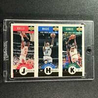 MICHAEL JORDAN / PENNY HARDAWAY / SHAWN KEMP 1996 UPPER DECK CC MINI CARDS GOLD