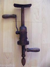 Schreiner-Handbohrmaschine- Mit Stütze-Kurbel--Tischler--Zimmermann--Altes Stück
