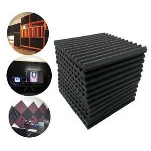 24x Raum Akustik Schall Dämmung Schaumstoff Schallschutz 30*30*2.5CM Schwarz