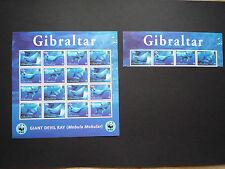 WWF Stamps Gibraltar 2006 Sheetlets Giant Devil Ray MS+4V MNH