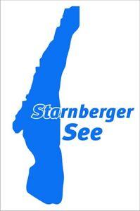 Aufkleber des Starnberger See, Folienschnitt, leicht aufzukleben.