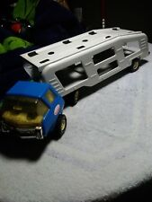 Vintage Tonka Motor Mover Car Hauler Truck & Trailer Pressed Steel 1970's Clean.
