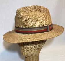 Vintage Adam Hat Union Made Quality Straw 7 - 7 1/8