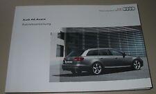 Betriebsanleitung Audi A6 Avant + Quattro 4F 4 + 6 + 8 Zylinder Benzin + Diesel