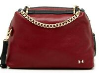 Halston Heritage Women's Chain Handle Satchel Leather Shoulder Bag Handbag!