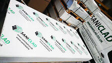 10 x 8ft x 4ft 2mm Thick Hygienic Wall Cladding Package With Profiles & Adhesive
