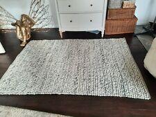 RRP £250 top quality M&S wool braided plait rug 170X120cm ex display