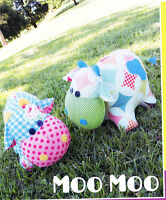 PATTERN - Moo Moo - cute softie/toy cow PATTERN by Melly and Me