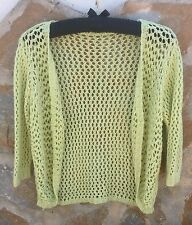 Crochet Bolero, Size Medium In Lime