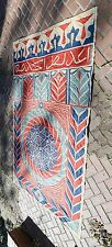 RARE LARGE ANTIQUE 1800s EGYPTIAN KHAYAMIYAH TAPESTRY PANEL - INSCRIBED
