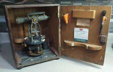 Antique Keuffel Amp Esser Paragon Survey Transit In Original Wooden Case Vintage