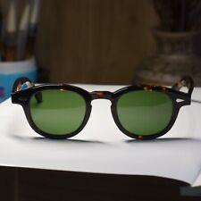 Vintage Johnny Depp sunglasses mens womens tortoise glasses green glass lenses