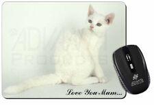 White Cat 'Love You Mum' Computer Mouse Mat Christmas Gift Idea, AC-86lymM
