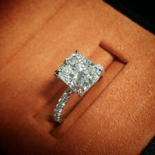 1.50 ctw Natural Cushion Cut Pave Diamond Engagement Ring - GIA Certified