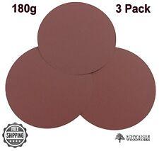"Klingspor 10"" inch Sanding Disc, 180 grit, 3 Pack, Peel & Stick- Made in Germany"